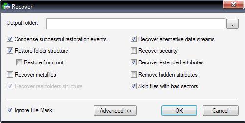 14. Sebelum meng-klik OK ,tentukan dulu dimana tempat recovery data ...